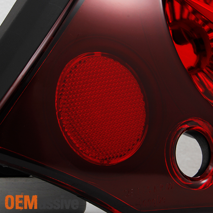 Fit 00 02 Eclipse Red Lens Rear Led Ring Tail Lights Brake