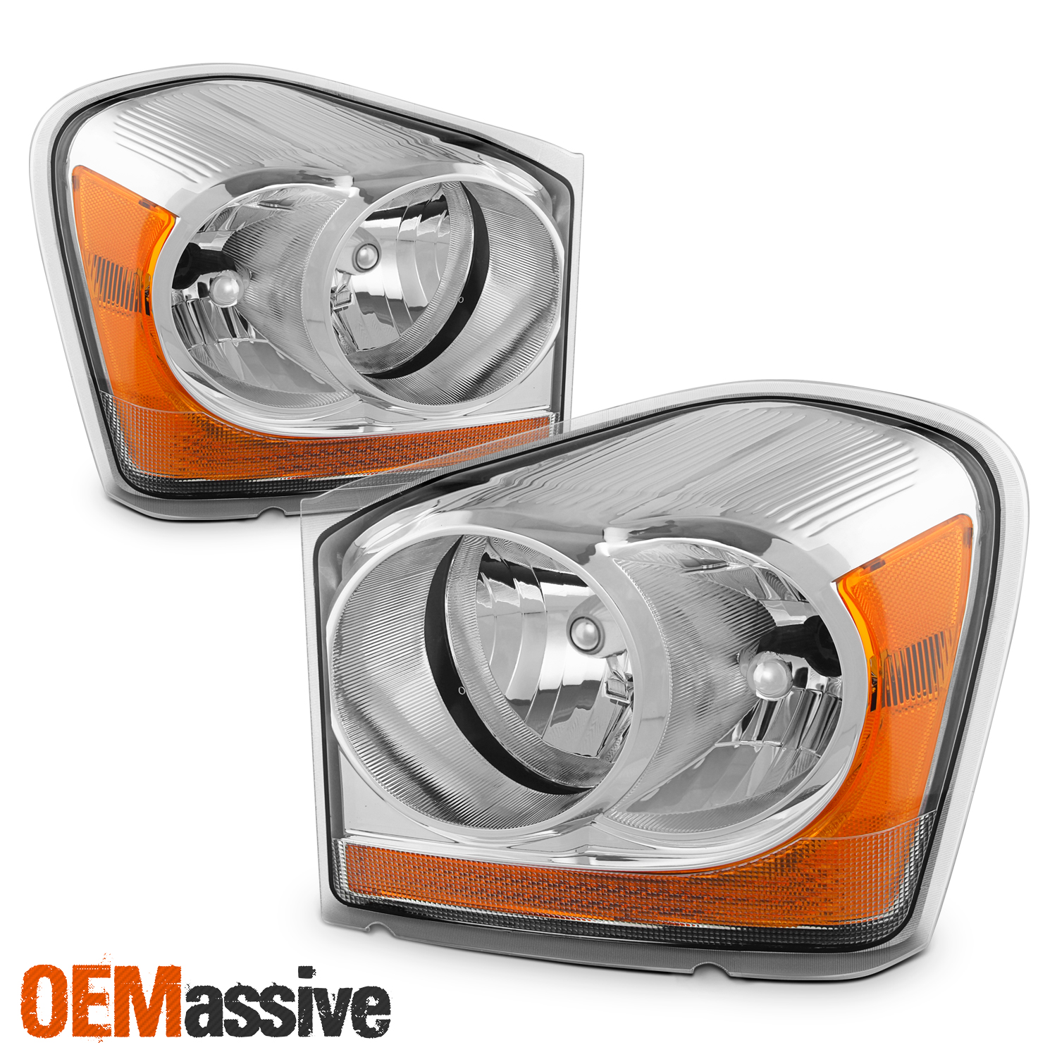 Details About Fit 2004 2005 Dodge Durango Clear Replacement Headlights Front Lamps L R
